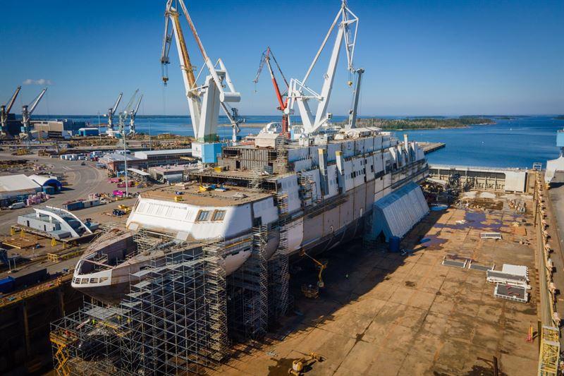 Tallinkin MyStar lasketaan vesille RMC:n telakalla elokuussa – Laivan kummiksi Viron presidentti