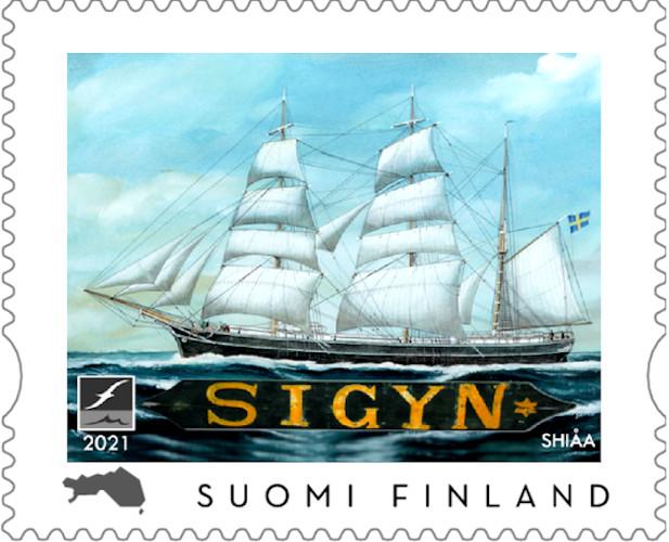 Kunnostetulle Sigynille oma postimerkki