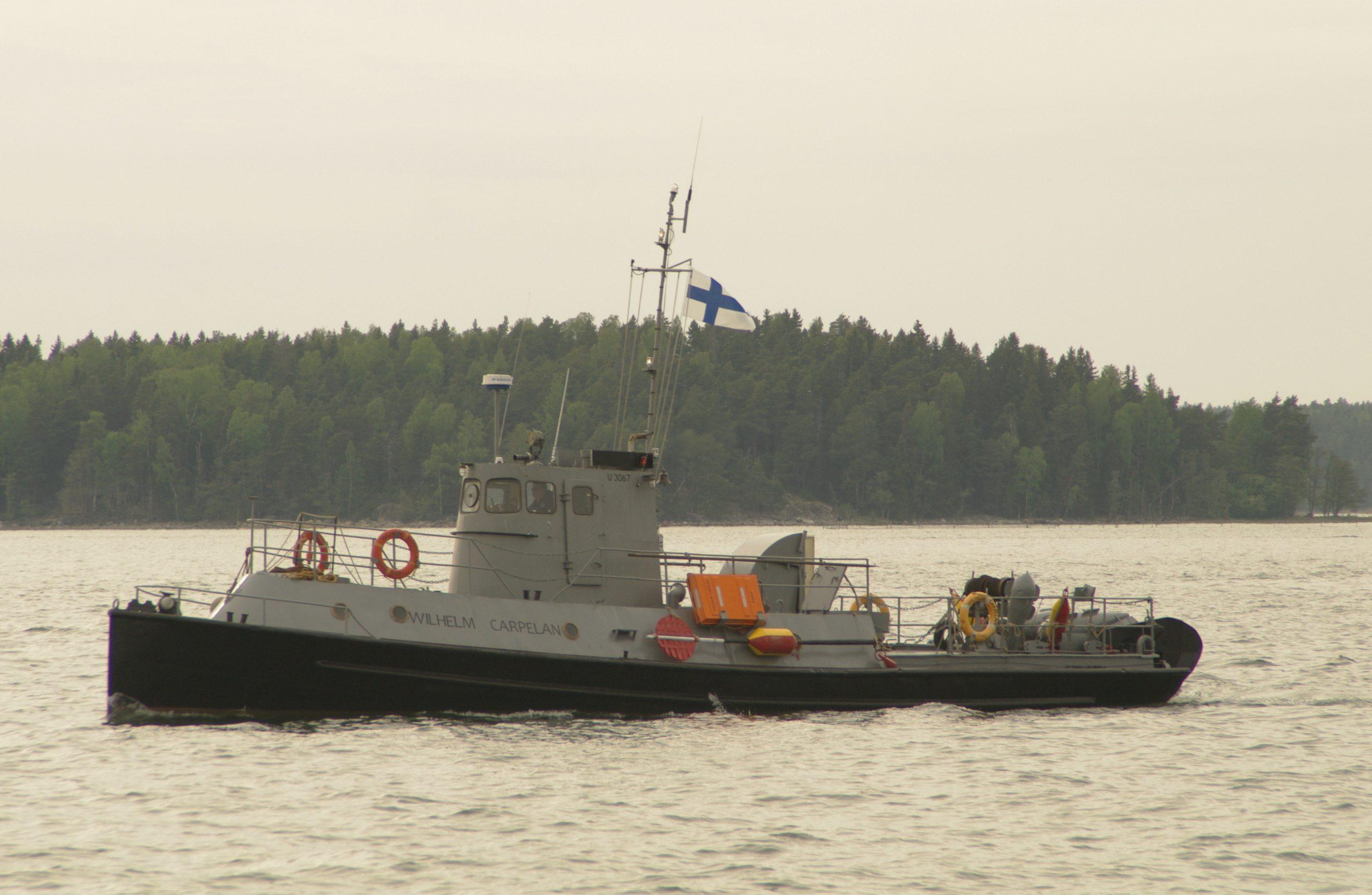 Museoitu sota-alus matkaa Turusta Helsinkiin