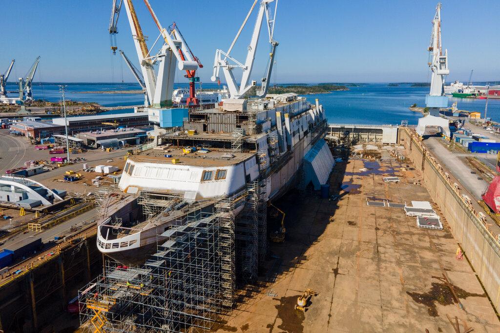 Tallinkin uusin laiva MyStar kastetaan tänään RMC:n telakalla Raumalla
